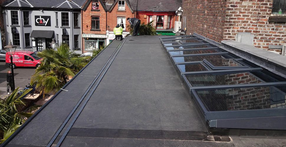 Flat Roof construction by Vision